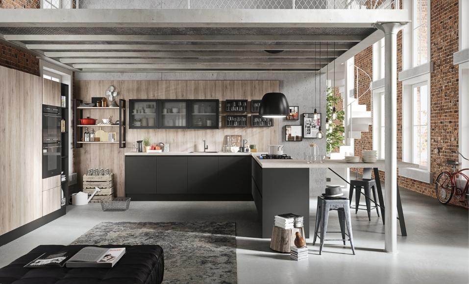 Ad kitchen cucine classiche moderne e di design - Cucine componibili con penisola ...